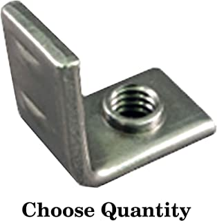 Weld Brackets - 32 Pack 1/4-20 Right Angle Projection Weld Brackets - C1010 High-Welding Quality, Low Carbon Steel