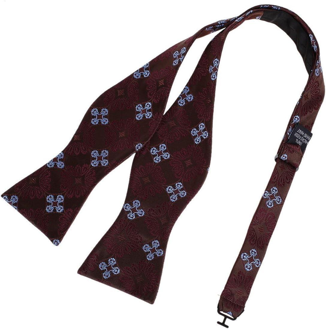 French Puce,Burgundy,Light Sky Blue Stylish Bowtie Self Tie Bow Tie Brown Birthday Award DBA7B10E Dan Smith Floral Polyster Cotton