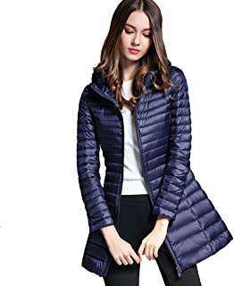 low priced 14f8d 82520 Amazon.it: Piumini Lunghi - Blu / Giacche e cappotti / Donna ...