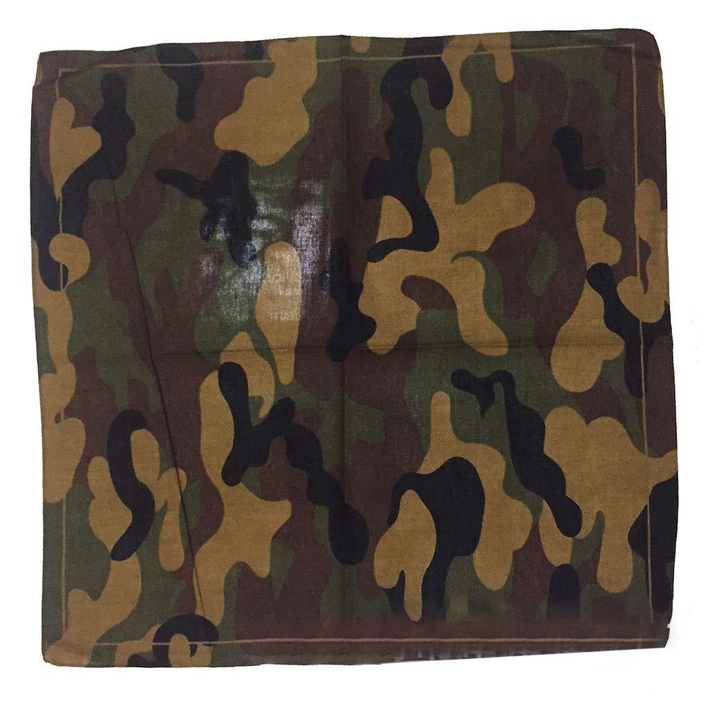 luosh Pañuelos Cuadrados Pañuelo Pañuelo Unisex Camuflaje Estampado Algodón Cuello Pañuelo Bufanda Pulsera Deportes Sombreros: Amazon.es: Hogar