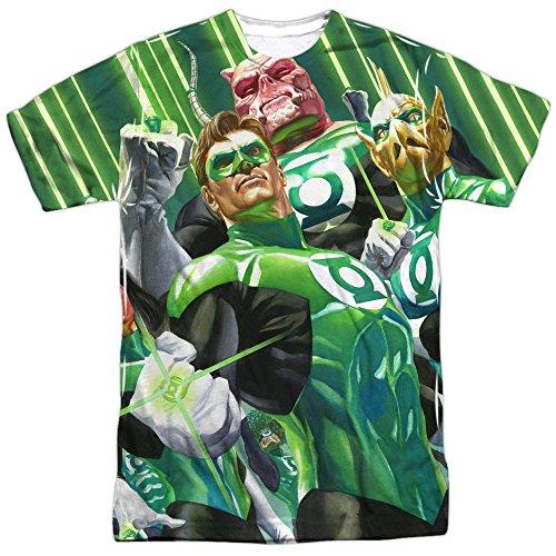 Trevco - Camiseta de manga corta para hombre, diseño con texto en inglés 'Weild The Logo', color verde - Blanco - Large