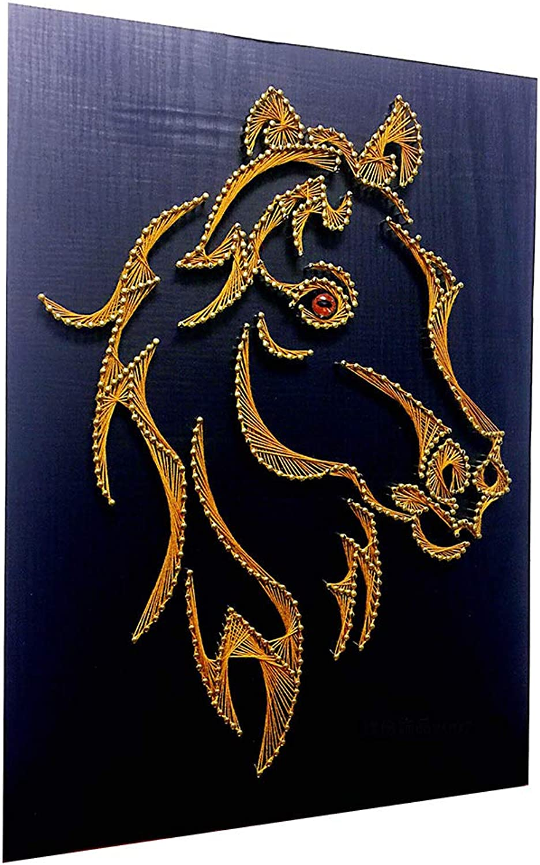 ahorra 50% -75% de descuento YYWDP Pintura Decorativa sinuosa,Arte de de de Cuerdas Arte 3D del Tejido a Mano Parojo de la Pintura Decorativa Pintura de Hilo Paquete de Material de Bricolaje Cabeza de Caballo  los clientes primero