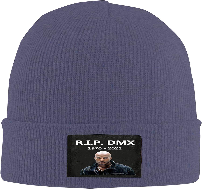 DMX Rapper Singer Knitted Hat Winter Beanie Daily Hat, Thermal Polar Fleece Ski Stocking Skull Cap for Men and Women