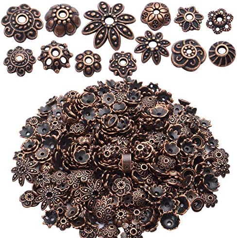BronaGrand 100 Gram About 180 350pcs Bead Caps Metal Spacers Jewelry Findings Accessories for product image