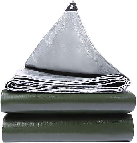 T-ShommeET Bache Imperméable à l'eau Anti-Gel Pare-Poussière Antivieillissement Extérieur, 15 Tailles argent-vert Tentes Auvents 4,8 X 6,8 M