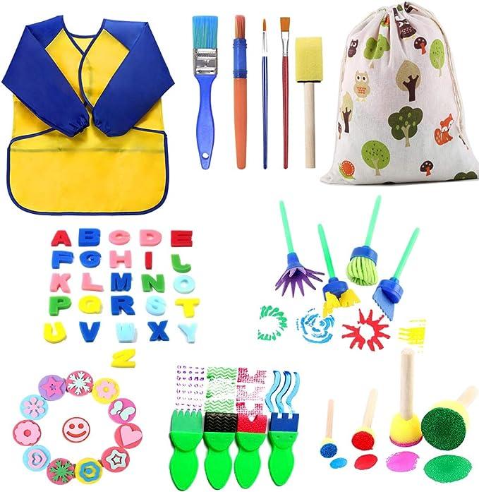 536 opinioni per Kit di Pittura per Bambini,57 Pezzi Early Learning Kids Set di Pittura tra Cui