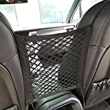 Car Seat Storage Cargo Purse & Pocket Mesh/Organizer By JOINAP, 2 Lays Back Seat Elastic Cargo String Net Pouch Holder Helps as Kids, Purse, Luggage, Pets Barrier