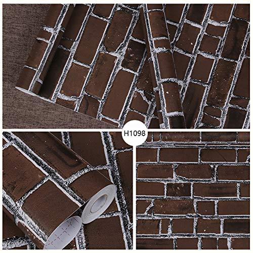 Schlafsaal Tapete Tapete Schlafzimmer warmes Zuhause weißen Backstein Papier Wohnzimmer Bekleidungsgeschäft Tapete nordischen Stil weißen Backstein Muster 3D Vollziegel 45cmx10m
