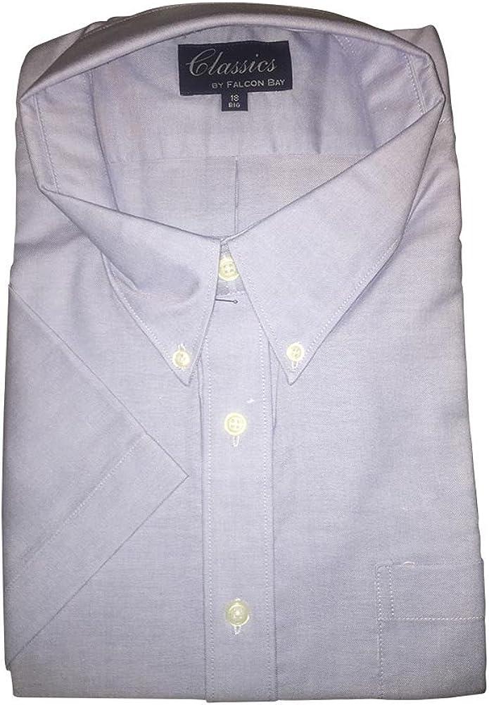 Big and Tall Short Sleeve Oxford Shirts
