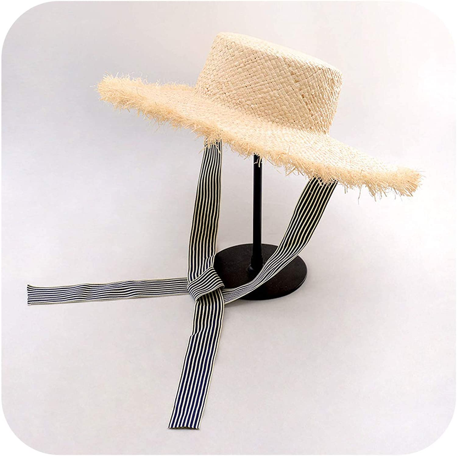 PrivateSpaceHats with Ribbon Tie Summer Sun Hat for Wome,