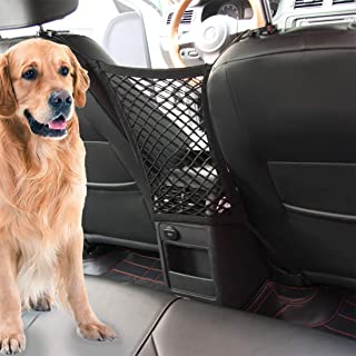 Car Dog Barrier Vehicle Backseat Mesh Universal Obstacle Stretchable Front Seat Pet Barrier Net Organizer Auto Backseat St...
