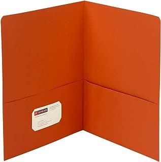 Smead Two-Pocket Heavyweight Folder, Letter Size, Orange, 25 per Box (87858)