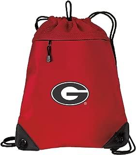 University of Georgia Drawstring Backpack Bag Georgia Bulldogs Cinch Pack - Unique MESH & Microfiber