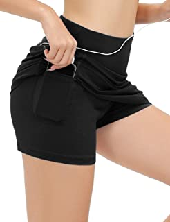 JACK SMITH Women's Active Athletic Skorts Exercise Skirt with Pocket for Tennis Golf Sport Workout