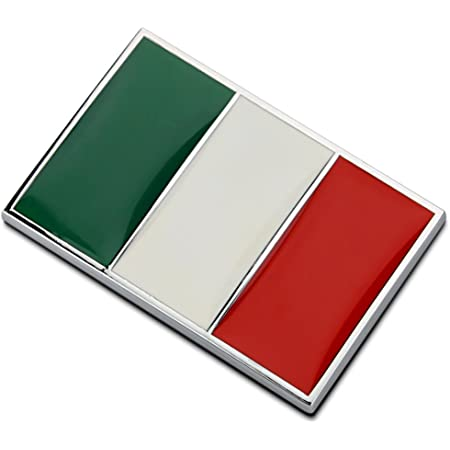 Dsycar 1 Stücke 3d Metall Italien Flagge Auto Seitenfender Kofferraum Emblem Abzeichen Aufkleber Auto Styling Italien Auto