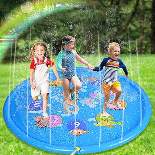 Nabance Splash Pad 170cm Wasserspielzeug Garten Sprinkler Play Matte...