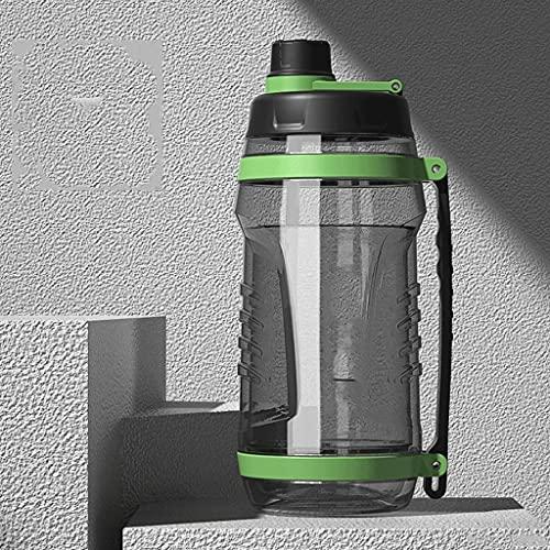 Borraccia sportiva con cannuccia, 106 once grande capacità di acqua brocca, per palestra/fitness e sport all'aria aperta bottiglia d'acqua sport (colore: verde, dimensioni: 3100ml/106oz)