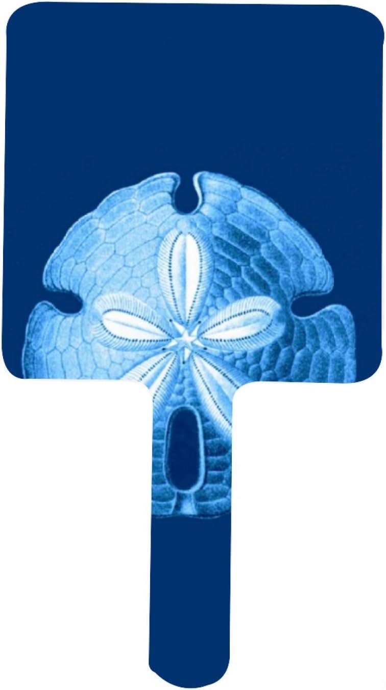 Sand Dollar Sea Life Print Indigo Ranking TOP18 Nashville-Davidson Mall Mirror and Blue Handheld White