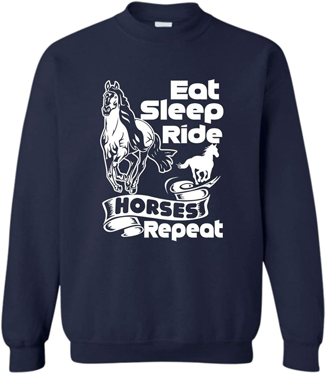 Sale Eat Sale special price Sleep Ride Horses Repeat Long Sleeve Sweats Pullover Tshirt