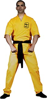 yellow karate suit