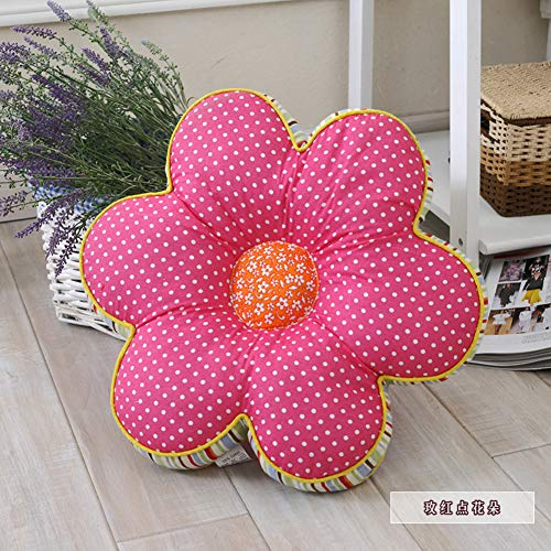 YUMUO Flower Seat Cushions,Floor Pillow Plum Blossom Seat Pad Pillow for Patio Garden Reading Books,Sponge Tatami Removable Chair Cushion N 40x40cm(16x16inch)