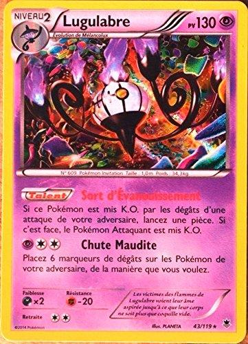 carte Pokémon 43/119 Lugulabre 130 PV SUPER RARE XY04 Vigueur spectrale NEUF FR