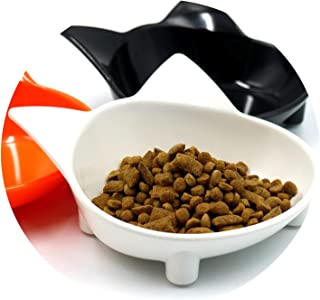 ZZmeet New 10 Colors Cat Ear Shaped Pet Tableware Pet Bowl for Dog Cat Feeder Utensils Small Medium Dog Food Water Bowl Pet Accessories