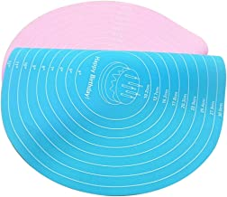 Woais Practical DIY Baking Tool Round Kitchen Accessories Noodle Cooking Placemat Cake Mat Cake Pad(Blue)