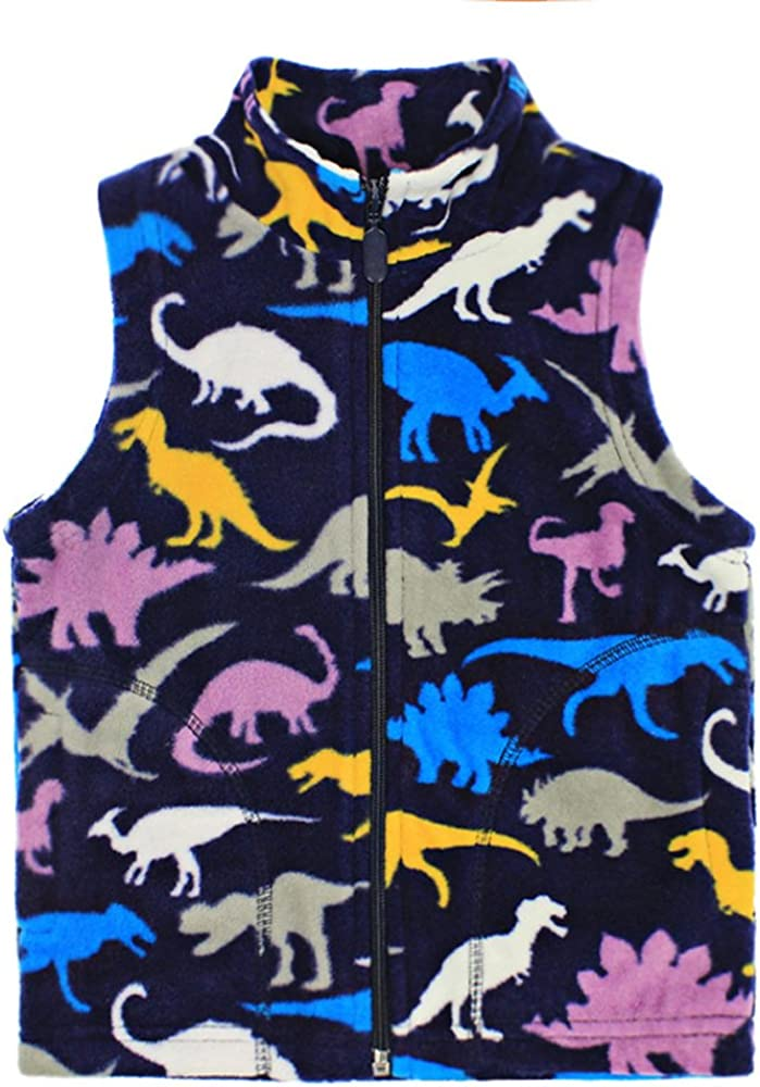 HUAER Baby Boy Industry No. 1 and Girl Save money Fleece Embroidery Zipper Vest Pattern