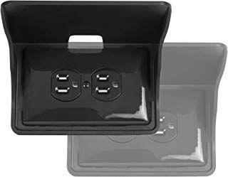 Storage Theory | Horizontal Outlet Power Perch | Ultimate Outlet Shelf | Easy Installation, No Additional Hardware Required | Holds Up to 10lbs | Black Color | 2 Pack