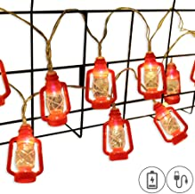 AceList ZONYEO Red Kerosene String Lights for Camping, Bedroom, Living Room, Novelty Retro Lights Décor - 20 LED