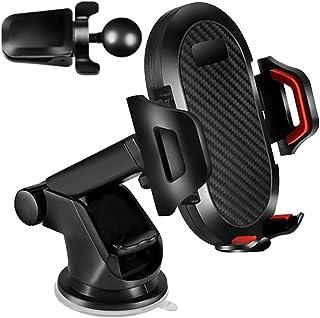 KFZ Handyhalterung,KFZ Handyhalterung mit starkem Saugnapf und Clip für Auto Armaturenbrett, Windschutzscheibe, Lüftungsschlitz, KFZ Handyhalterung mit 360 ° drehbar, passend für alle Smartphones