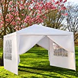 onEveryBaby Outdoor Canopy Party Tent,10'x10' Wedding Tent Sunshade Shelter,Waterproof Outdoor Gazebo Pavilion with Removable Sidewalls Upgraded Thicken Steel Tube (4 Removable Sidewalls)