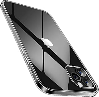 SmartDevil Case with Tempered Glass Screen Protector for iPhone 12/12 Pro Anti-Yellow Slim Clear Soft Protective Transpare...