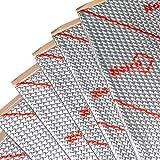 Noico 1,3 mm 4 qm Fahrzeug Selbstklebende Alubutyl Anti Dröhn Dämmmatte Geräusch- und Lärmschutz Schalldämmung für Kfz