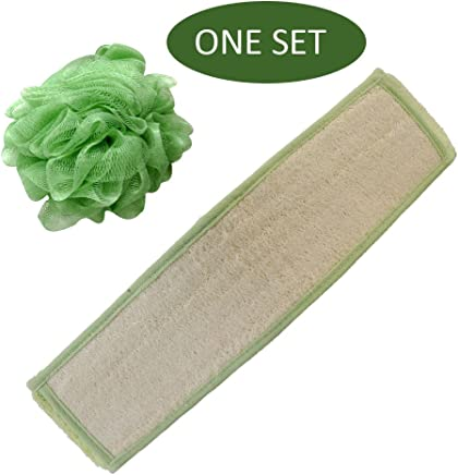 Loofah Back Scrubber for Shower with Extra Large Luffa Scrub to Exfoliate Hard to Reach Spot