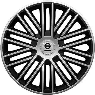 SPARCO SP 1474SVC Set copricerchi Sicilia 14 Pollici Argento//Carbonio