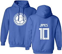 Tcamp Colombia 2018 National Soccer #10 James RODRIGUEZ World Championship Men's Hooded Sweatshirt