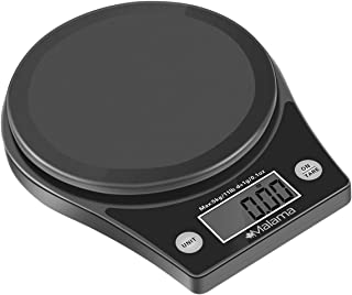 Malama Kitchen Scale, Digital Food Scale High Accuracy Multifunction CookingScale with0.1oz/ 1 g Increment, 11lb/5 kg Capacity, Black (Batteries Included)