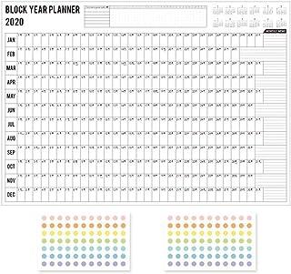 Calendar Desktop Desk Calendars Wall Calendars 2020 Family Weekly Planner Daily Plan Paper Wall Calendar with 2 Sheet EVA ...