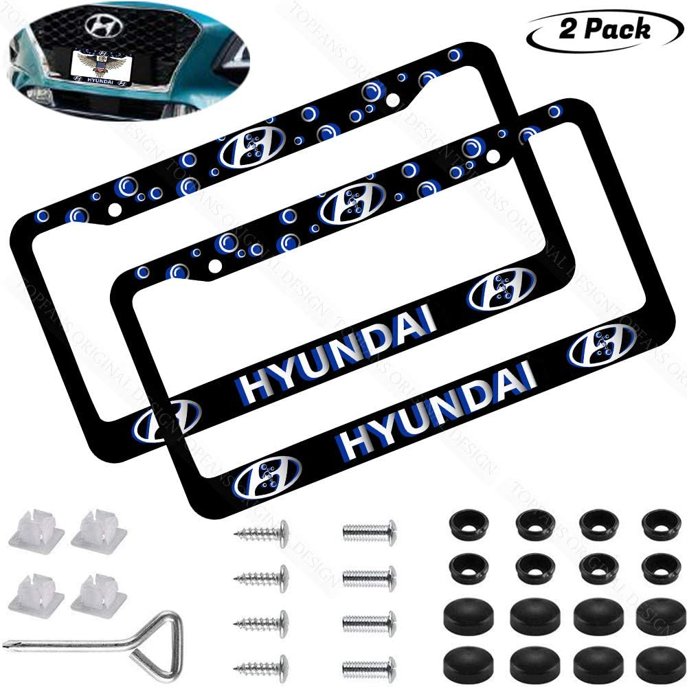Black 2PCS Latest Frosted Aluminum Alloy fit Mustang License Plate Frame-Applicable to US All Mustang Tag License Frames for Mustang