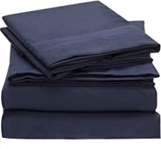 Mellanni Bed Sheet Set Brushed Microfiber 1800 Bedding - Wrinkle, Fade, Stain Resistant - Hypoallergenic - 3 Piece (Twin XL, Royal Blue)
