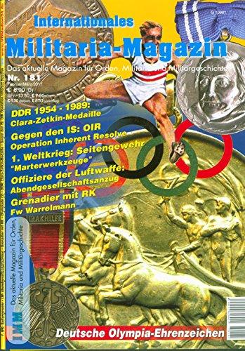 Internationales Militaria-Magazin IMM Nr. 181 Orden Militaria Militärgeschichte Olympia
