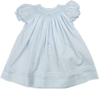 Baby Girls' Daygown with Heart Smocking and Pearls