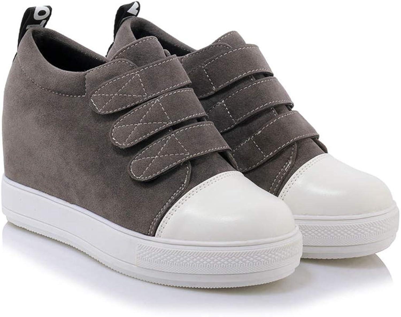 T-JULY Women Spring Hidden Wedge Heels Casual shoes Female Platform High Heels Casual shoes