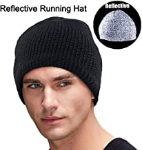 Oeyliz Reflective Hat Beanie for Men Running Hat Men Women Reflective Gear for Night Running Beanie Winter Hat High Visibility Safety Great for Jogging Sports and Outdoors Unisex Adult One Size