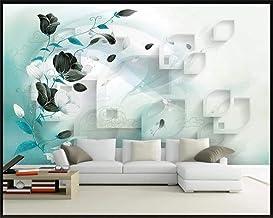 Mural wallpaper Custom Wallpaper Trend Romantic Floral Living Room Tv Sofa Background Wall Painting Home Decoration Mural ...