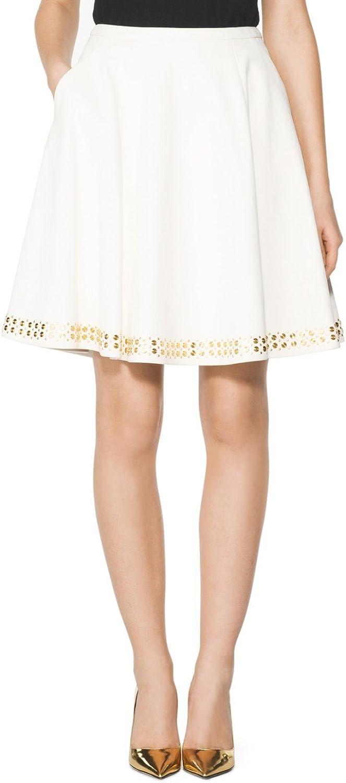 Tamara Mellon Chief Designer Pleated Circle Stud Skirt