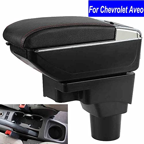 SZSS-CAR Leather Car Center Console Armrest Box for Chevrolet Aveo 2011 2012 2013 2014