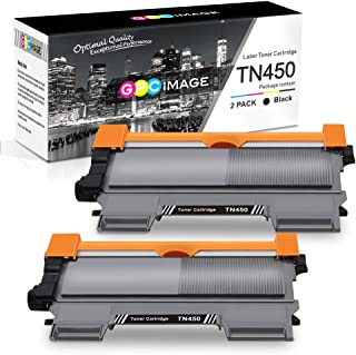 GPC Image Compatible Toner Cartridge Replacement for Brother TN450 TN-450 TN420 to use with HL-2270DW HL-2280DW HL-2240 MF7860DW MFC-7360N DCP-7065DN MFC7860DW Intellifax 2840 2940 Printer (2-Black)